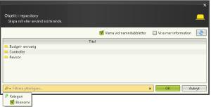 2conciliate - Objektdialogfilter i v.3.5