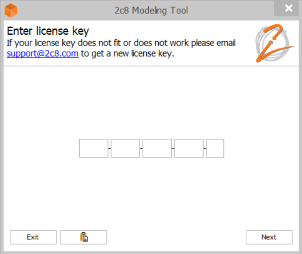 How do I activate my 2c8 Modeling Tool license? | 2c8
